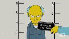 Mr. Burns gets a mug shot