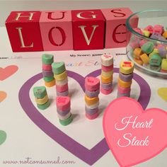 Conversation Heart Stack. A simple game that promises tons of fun. Free printable.