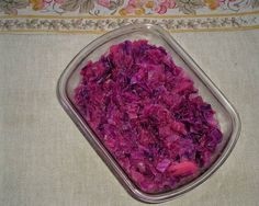 Red/Purple cabbage - German style - finally figured out Grandma's recipe - Topic