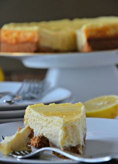 Lemon Cheesecake Recipe | mountainmamacooks.com