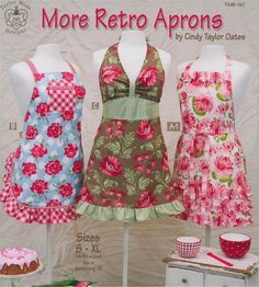 More Retro Aprons Pattern Book by Cindy Taylor Oates by Beverlys.com