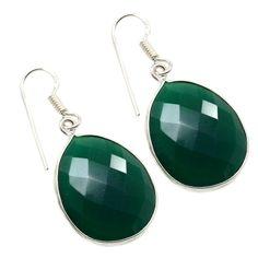 Silvestoo India Green Onyx Gemstone 925 Sterling Silver Earring PG-100766   https://www.amazon.co.uk/dp/B06XX93DJF