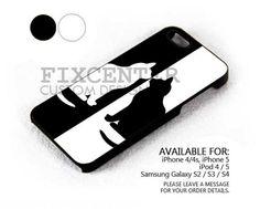 Black White Shilouette case for iPhone 4/4S/5 iPod 4/5 Galaxy S2/S3/S4 | FixCenter - Accessories on ArtFire