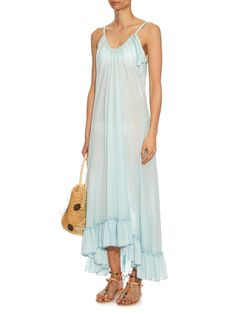 Anemone ruffled-hem cotton maxi dress | Loup Charmant | MATCHESFASHION.COM