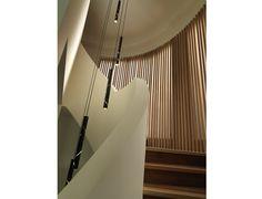 LIGHTING - Chandeliers - Black Rain Aluminium Flute LED Chandelier by Ilan El