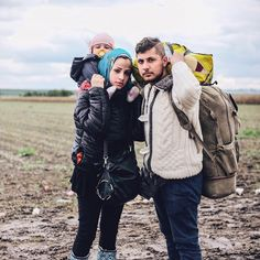Photo by @ciriljazbec / I crossed the cornfields near the Croatian-Serbian border with the Syrian refugees. It was hard to walk because of the muddy dirt road. One family was at the end of a large group and I asked them if they could stop for a while so that I could take their photo. It's hard to imagine and understand how people are taking their whole lives with them in bags and backpacks. Follow more @ciriljazbec and @natgeo #refugeecrisis #migrantcrisis #Serbia by natgeo
