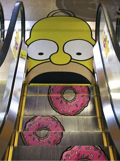 Arte Callejero / Street Art - Homer Simpson My escalator :)