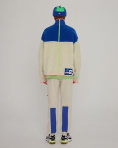 Trance fleece jacket Off white