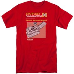 Star Trek/Comm Manual Short Sleeve Adult T-Shirt Tall in