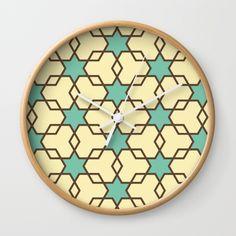 Retrostar #1 (By Salomon) #print #lamina #clock #frame #decor #decoration #decoracion #interior #home #wall #casa #frame #pattern #mosaic #mosaico #stars #universe #retro #society6 @society6