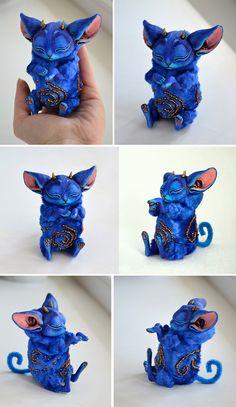 Fantasy | Whimsical | Strange | Mythical | Creative | Creatures | Dolls | Sculptures | ☥ | Hobgoblin's kitten by steinntr0ll on DeviantArt