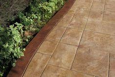 Stamped Concrete - Home and Garden Design Idea's like the border Stamped Concrete, Concrete Design, Concrete Patio, Concrete Stamping, Decorative Concrete, Concrete Texture, Concrete Floors, Modern Garden Design, Patio Design