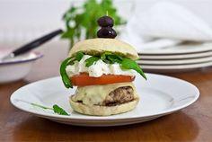 My Cookbook, Salmon Burgers, Feta, Hamburger, Bbq, Good Food, Ethnic Recipes, Gourmet, Barbecue