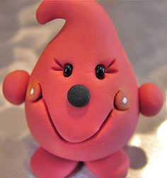 Pink MELON PARKER  Polymer Clay Character  Special by KatersAcres, $12.50