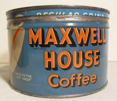 I'm looking for some vintage coffee cans for an upcoming performance. Any help? Coffee Tin, I Love Coffee, Espresso Coffee, Best Coffee, Coffee Break, Coffee Cups, Coffee Tables, Vintage Tins, Vintage Coffee
