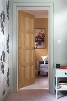 Step into a world of choice and style and browse our extensive range of quality interior doors for both the home and office. Oak Fire Doors, Oak Doors, Panel Doors, Wooden Doors, Solid Oak Internal Doors, Door Design, House Design, Flat Interior, Interior Doors