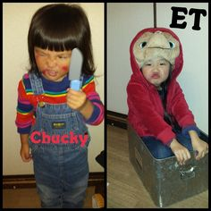 E.T. and Chucky child's costumes in Japan