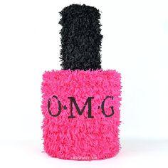 omg nail polish pinata   bachelorette spa party http://emmalinebride.com/bachelorette/spa-party/
