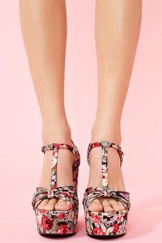 I've always wanted floral heels.