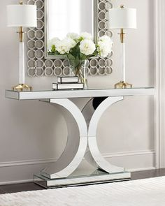"""Splendora"" #Mirrored #Console at #Horchow"