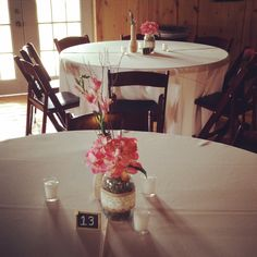 Lindsi + Luke | 5.23.14 | Wedding ceremony and reception at Willow Creek | Centerpieces