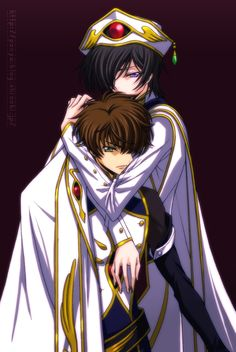 Type: Fan Art, Anime(s)/Show(s): Code Geass, Character(s): Top to Bottom: Lelouch, Suzaku, Comment: I still don't know if I hate Suzaku for what he did at the end.