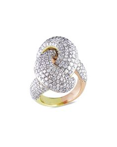 Spotted this 14K 4.50 ct. tw. Diamond Swirl Ring on Rue La La. Shop (quickly!).