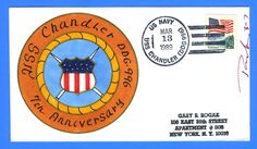 USS Chandler DDG-996 7th Anniversary 1989 - Rogak Handpainted Cachet