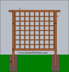 Garden Plans and Ideas: A Simple Lattice Style Trellis