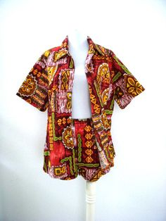 Vintage Hawaiian Mens Cabana Shirt and Trunks - SOLD -  from OmAgainVintage  https://www.etsy.com/shop/OmAgainVintage?ref=si_shop