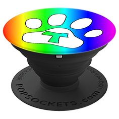 Letter T Initial Rainbow Paw Dog Cat Lover Monogram Gift  #cuteanimals #cute #cutepopsocket #popsocket #initialpopsocket #monogramgift