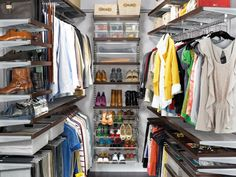 Ways to Maximize Storage in Your Walk-In Closet I have a huge walk-in closet and I know I could organize it better.
