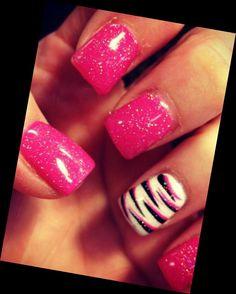 Cute zebra nails