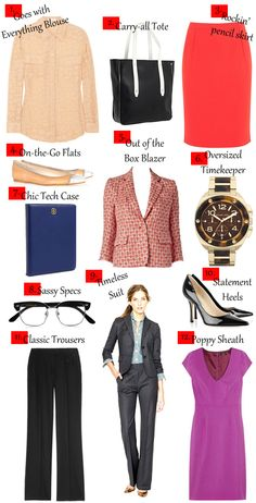 So helpful! Use this checklist to build your own professional wear in your style!