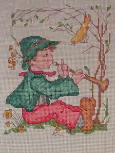 Vintage Goebel Hummel Little Boy Playing Flute by ArtfulHeart, $12.00