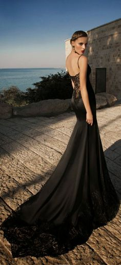 MoonStruck Galia Lahav Black Mermaid Dress for Wedding