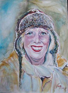 portrait of Anka Van Dorp by joaoViola   by pintor joao viola