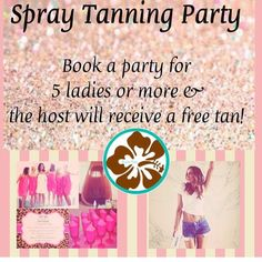Need an idea for your next girls weekend or hens party? Add the perfect glow to your group & host a mobile spray tanning party! Spray tanning parties are the new Tupperware party & an easy and fun way to pamper you & your girlfriends. Benefits include coming together saving money & drinking bubbly while you wait to get your summer glow on! Host receives their tan free !