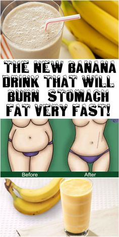 THE NEW BANANA DRINK THAT WILL BURN STOMACH FAT VERY FAST!
