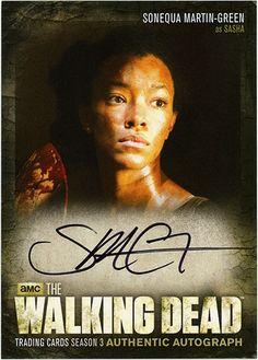 The Walking Dead Trading Cards Season 3 Part 2 Sasha Williams, Walking Dead Pictures, Sonequa Martin Green, Walking Dead Cast, Comic Games, True Facts, Season 3, Trading Cards, Good Movies