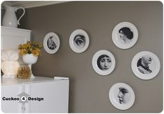 Cuckoo 4 Design: DIY Piero Fornasetti Plates I would love to do this with pics of my kids