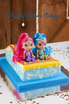 Shimmer and Shine Magic Carpet Cake