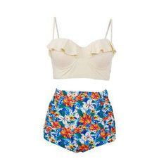 2017 New Swimsuit Women Swimsuit High Waist Swimsuit Plus Size Swimwear Push Up Bikini Set Retro Vintage Beach Wear XXL
