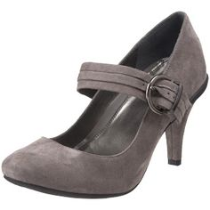 Gray Mary Jane pumps