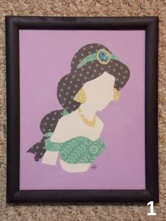Disney Princess Paper Art - JASMINE Perfect for various gifts