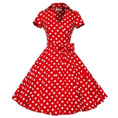 Maggie Tang Women's 50s Vintage Cherry Rockabilly Hepburn Pinup Cos Party Parka Business Swing Dress,Plus Size – USD $ 47.99