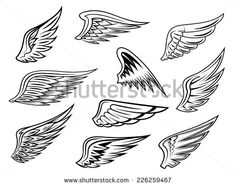 small wing tattoos for women - Google Search