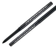 Maybelline NY Unstoppable eyeliner -- Onyx.  First long-lasting, really smudge and waterproof eyeliner to have. Darker shade hard to find, but Onyx works good enough--dark enough, buildable. I like to just tight-line the upper lid to go along with mascara but could go without too. Started using around 6.13. only on special ocassions.