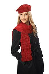 Ravelry: Merlot Beret & Scarf pattern by Westminster Fibers