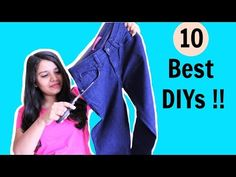Recycled Crafts Ideas - 50 Diy Old Jeans Projects - YouTube Diy Old Jeans, Old Jeans Recycle, Upcycle, Reuse, Recycled Fabric, Recycled Crafts, Felt Art, Diys, Crafts For Kids
